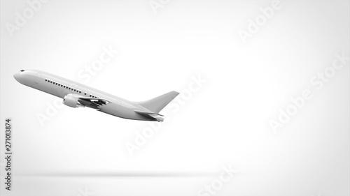 Fototapeta  飛行機 離陸 側面 左