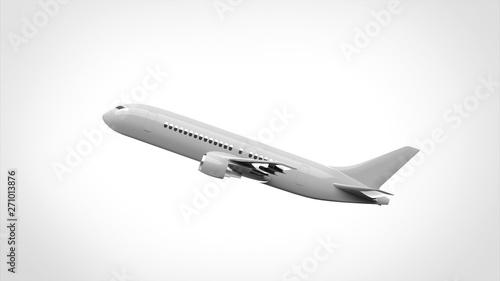 Fototapeta  飛行機 離陸 側面
