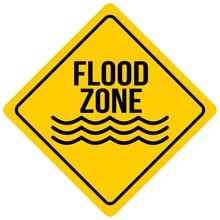 Flood Zone Sign - A Cartoon Il...