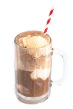 A Root Beer Float Isolated On A White Background