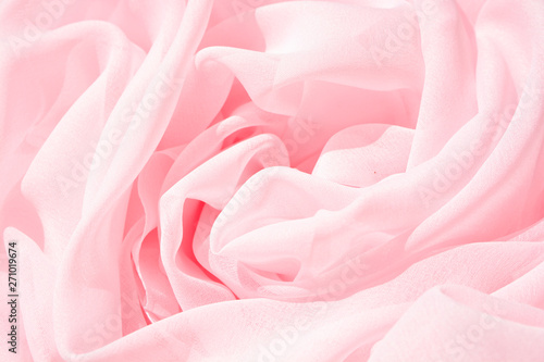 Fototapeta  Texture chiffon fabric pink color for backgrounds