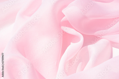 Fotografie, Obraz Texture chiffon fabric pink color for backgrounds