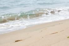 Blue Sea, White Beach And Surf