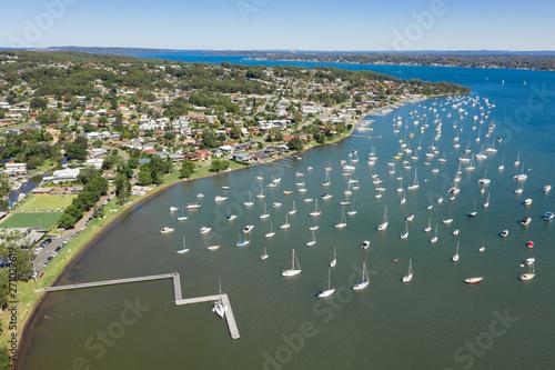 Foto auf AluDibond Olivgrun Croudace Bay - Valentine - Lake Macquarie Newcastle NSW Australia