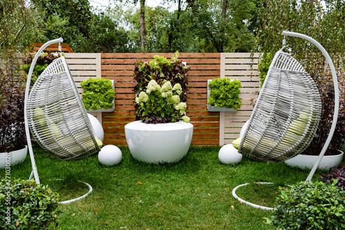 Obraz Recreation area in own garden - fototapety do salonu