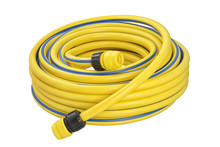 Coiled Rubber Garden Hose Isolated
