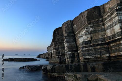 Slika na platnu A metamorphic rock called Susa Hornfels in Yamaguchi Pref.