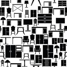 Furniture Seamless Pattern Bac...