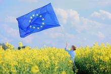 Little Boy With The European Union Flag