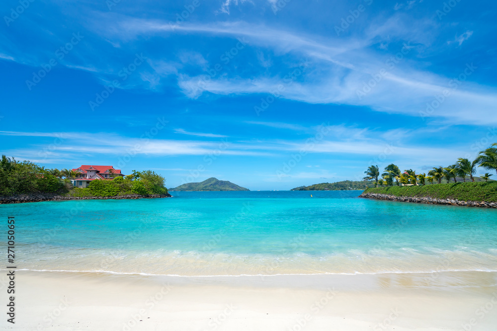 Fototapety, obrazy: View of Eden Island Mahe Seychelles at sunny weather