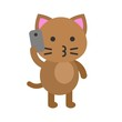 Cute Cat avatar vector illustration, flat icon