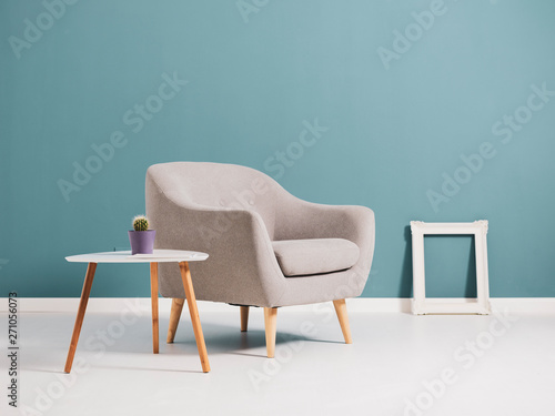 Fotografie, Obraz  Living room interior with minimalist furnishing