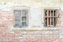 The Windows Of Abandoned Dilapidated House