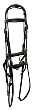 Leather Bridle In Black With A...