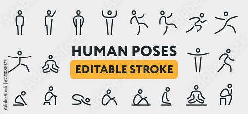 Human Man Body Poses Canvas Print