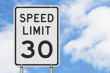 US 30 Mph Speed Limit Sign