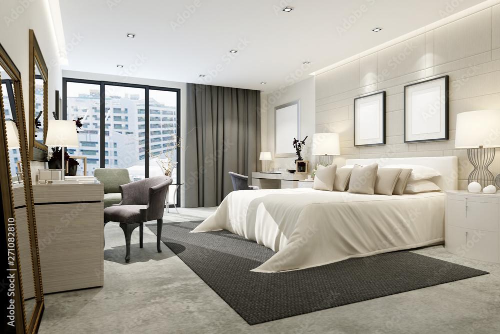 Fototapeta 3d render modern hotel room