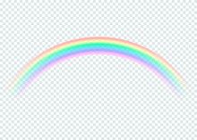 Transparent Rainbow. Isolated On Transparent Background. Vector Illustration.