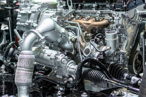 Fotografiet  detail of engine in car