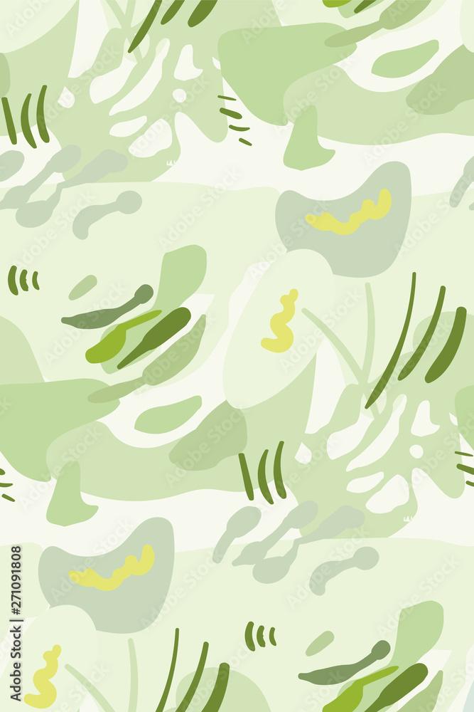 vector stylized modern seamless floral pattern scandinavian
