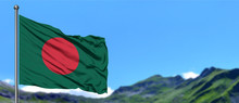 Bangladesh Flag Waving In The ...