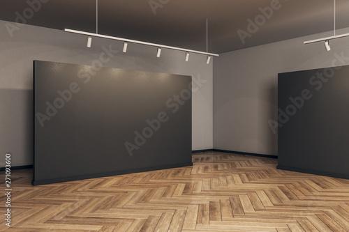 Fotografie, Obraz  Modern gallery with empty frame