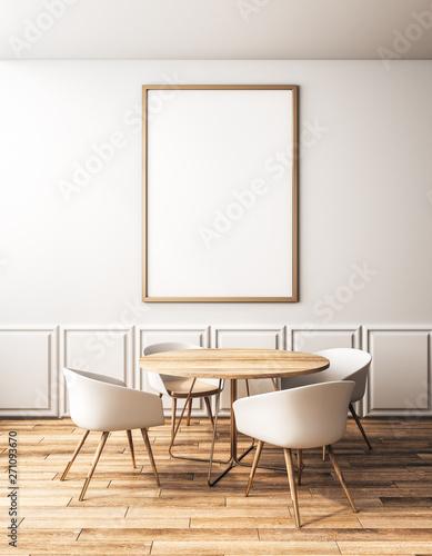 Fototapeta Modern classic cafe with banner obraz na płótnie