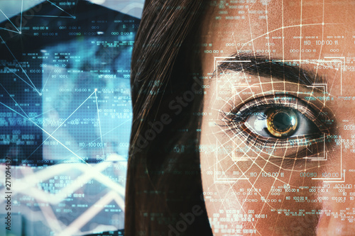 Access and biometrics concept Wallpaper Mural