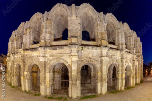 France. Arles. Old antique roman amphitheater arena. Wallpaper Mural