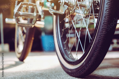 In de dag Fiets Detail image of Bmx bike background