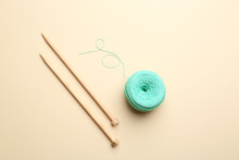 Clew Of Threads And Knitting N...
