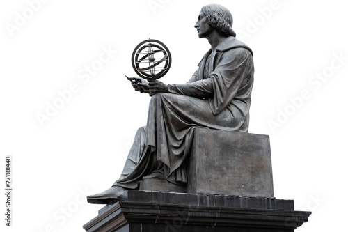 Canvas Nicolaus Copernicus Monument in Warsaw