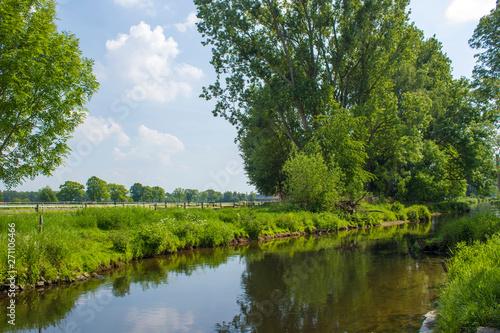 obraz PCV Niers River, Geldern, Germany