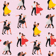 Seamless Pattern With A Dancin...