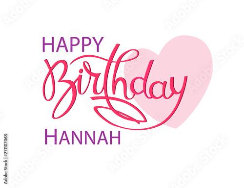 Birthday greeting card with the name Hannah Tapéta, Fotótapéta