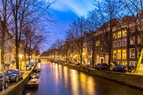 Deurstickers Amsterdam Amsterdam Canals sunset