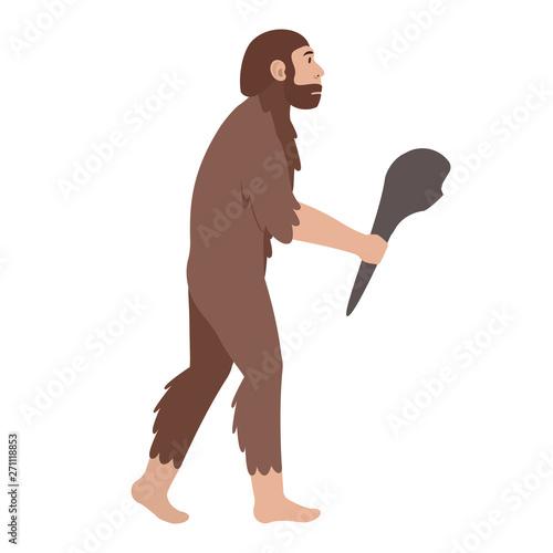 Photo Archaic human man with a baton