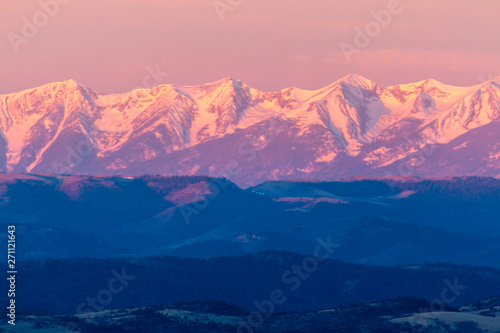 Alpenglow on the Sangre de Cristo Wallpaper Mural