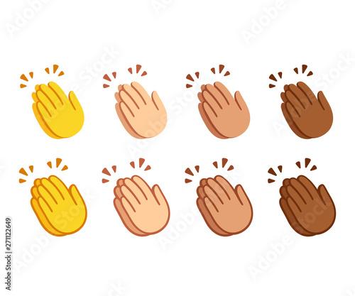 Clapping hands emoji set Wallpaper Mural