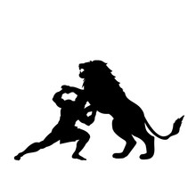 Heracles Fights Lion Predator ...