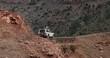 4x4 car driving through the Atlas mountain range.