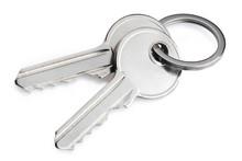 Keys, Isolated On White Backgr...