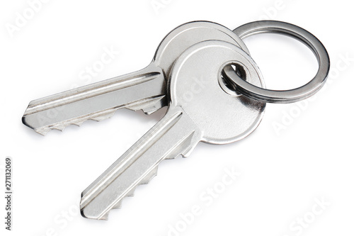 Fotografía  Keys, isolated on white background