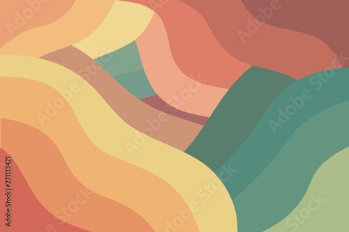 Modern colorful wavy retro background Fototapete