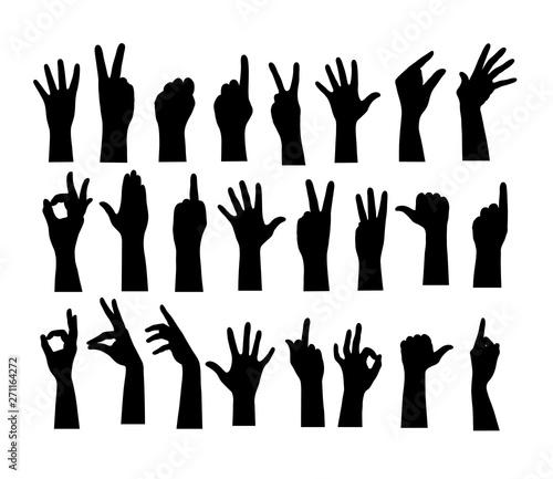 Finger Hand Silhouette, art vector design Wall mural