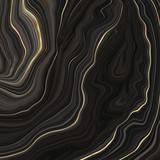 Streszczenie marmur wiruje w tle - Płynny efekt marmurkowy z subtelnymi złotymi akcentami - 271166091