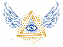 All Seeing Eye Of God In Sacre...