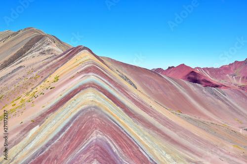 Poster Colorful Landscape in the Cusco region, Peru