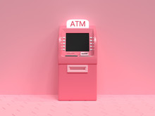 Pink ATM Machine Business Tech...