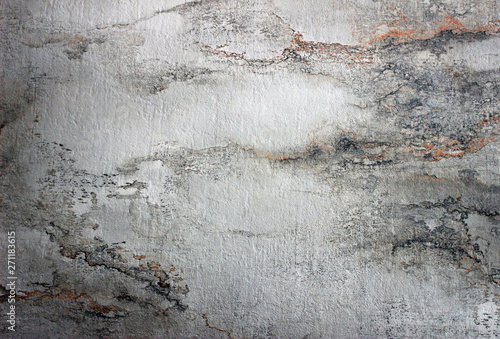 Concrete or stone texture with a soft balck and white washed out pattern - 271183615
